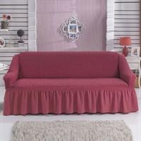 Чехол на 3-мест. диван  кораллово-розовый