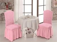 Чехлы для стула (2шт.) розовые